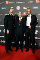 Dr. Bonaventura Clotet, Director of Fundacion Lucha Contra el SIDA and singer Miguel Bose with the President of La Caixa Isidre Faine Casas during Barcelona 5th AIDS Ceremony. November 24,2014.(ALTERPHOTOS/Acero) /NortePhoto<br />