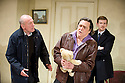 Haunting Julia by Alan Ayckbourn directed by Andrew Hall. With Christopher Timothy as Joe, Dominic Hect as Andy [tie], Richard O'Callaghan as Kent [brown leather jacket]  . Opens at The Riverside Studios on 27/5/11 . CREDIT Geraint Lewis