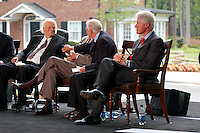 PRIVATE CEREMONY TO DEDICATE THE NEW BILLY GRAHAM LIBRARY IN CHARLOTTE , NC 05-31-2007 PHOTO BY JONATHAN GREEN©2007.BILLY GRAHAM GEORGE BUSH JIMMY CARTER BILL CLINTON