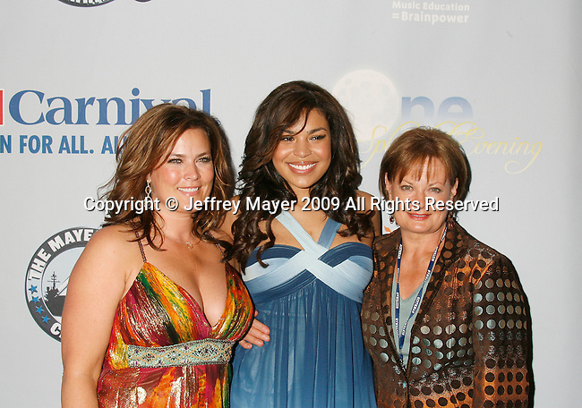 "SAN PEDRO, CA. - March 26: Jodi Sparks (mother), Jordin Sparks and grandmother Pam Weidmann arrive at the ""One Splendid Evening"" sponsored by Carnival Cruise Lines and benefiting VH1 Save The Music held on the Carnival Splendor at Port Of Los Angeles on March 26, 2009 in San Pedro, California."