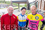 Jerry Hayes, Beaufort, Anne Marie Healy, Kilbreen, John Kissane, Killarney, Cyclists at the Ring of Kerry Charity Cycle on Saturday.