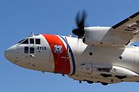 United States Coast Guard C-27J Spartan Medium Surveillance Aircraft assigned to Air Station Sacramento in flight.