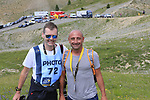Met double World Champion Paolo Bettini (ITA) on the way up Col d'Izoard during Stage 18 of the 104th edition of the Tour de France 2017, running 179.5km from Briancon to the summit of Col d'Izoard, France. 20th July 2017.<br /> Picture: Eoin Clarke | Cyclefile<br /> <br /> All photos usage must carry mandatory copyright credit (&copy; Cyclefile | Eoin Clarke)
