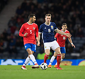 23rd March 2018, Hampden Park, Glasgow, Scotland; International Football Friendly, Scotland versus Costa Rica; Celso Borges of Costa Rica and Kevin McDonald of Scotland
