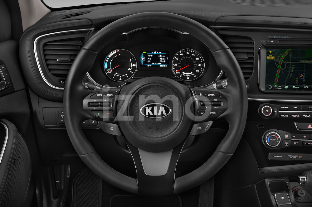 Car pictures of steering wheel view of a 2014 KIA Optima Hybrid EX 4 Door Sedan Steering Wheel