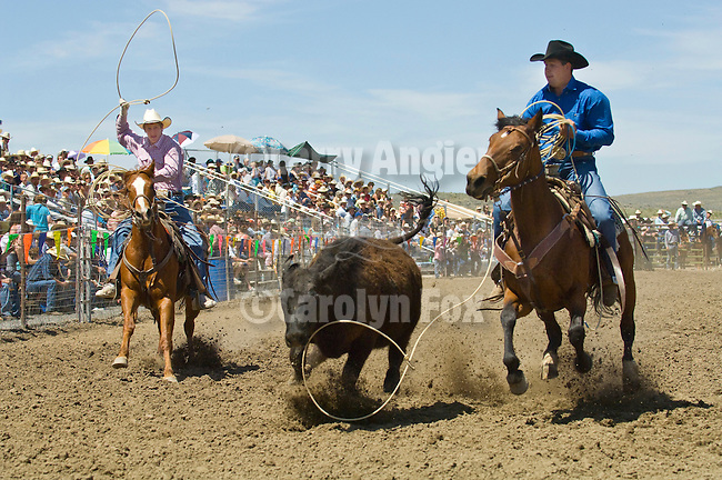Team roping, Jordan Valley Big Loop Rodeo, ..