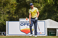 Scott Harrington (USA) watches his tee shot on 2 during round 4 of the 2019 Houston Open, Golf Club of Houston, Houston, Texas, USA. 10/13/2019.<br /> Picture Ken Murray / Golffile.ie<br /> <br /> All photo usage must carry mandatory copyright credit (© Golffile | Ken Murray)