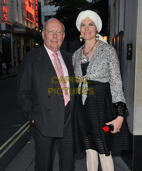 Lord Julian Fellowes &amp; Lady Emma Joy Kitchener attend the Downton Abbey Wrap Party, The Ivy Club, West Street, London, England, UK, on Saturday 15 August 2015. <br /> CAP/CAN<br /> &copy;Can Nguyen/Capital Pictures