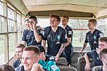 07.01.2019, Lion & Safari Park, Broederstroom, Kalkheuvel, RSA, TL Werder Bremen Johannesburg Tag 05<br /> <br /> im Bild / picture shows <br /> Ludwig Augustinsson (Werder Bremen #05), Milot Rashica (Werder Bremen #11), Joshua Sargent (Werder Bremen #19), Felix Beijmo (Werder Bremen #02), Jan-Niklas Beste (Werder Bremen #39) im Ausflugsbus, <br /> <br /> Teil der Spieler besucht am 5. Tag des Trainingslager eine geführte Tour im Lion & Safari Park, <br /> <br /> Foto © nordphoto / Ewert