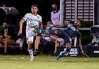 17th July 2020, Orlando, Florida, USA;  Minnesota United defender Romain Metanire (19) gets his toe on the ball  to block the pass during the MLS Is Back Tournament between the Real Salt Lake versus Minnesota United FC on July 17, 2020 at the ESPN Wide World of Sports, Orlando FL.