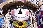 Scarecrow at at roadside stand in Massachusetts