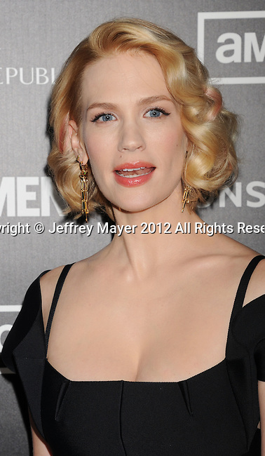 HOLLYWOOD, CA - MARCH 14: January Jones arrives at AMC's 'Mad Men' Season 5 Premiere at ArcLight Cinemas Cinerama Dome on March 14, 2012 in Hollywood, California.