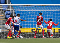 Reading's Liam Moore about to scores his side's first goal  <br /> <br /> Photographer David Horton/CameraSport<br /> <br /> The EFL Sky Bet Championship - Reading v Middlesbrough - Tuesday July 14th 2020 - Madejski Stadium - Reading<br /> <br /> World Copyright © 2020 CameraSport. All rights reserved. 43 Linden Ave. Countesthorpe. Leicester. England. LE8 5PG - Tel: +44 (0) 116 277 4147 - admin@camerasport.com - www.camerasport.com