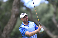 Padraig Harrington (IRL) tees off the 11th tee during Friday's storm delayed Round 2 of the Andalucia Valderrama Masters 2018 hosted by the Sergio Foundation, held at Real Golf de Valderrama, Sotogrande, San Roque, Spain. 19th October 2018.<br /> Picture: Eoin Clarke | Golffile<br /> <br /> <br /> All photos usage must carry mandatory copyright credit (&copy; Golffile | Eoin Clarke)