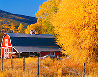Red Barn in Park City, Wasatch Mountains, Utah