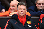 Louis Van Gaal, manager of Manchester United - Manchester United vs. Sunderland - Barclay's Premier League - Old Trafford - Manchester - 28/02/2015 Pic Philip Oldham/Sportimage