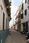 Traditional housing area in city centre,  Barrio Macarena, Seville, Spain