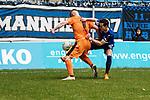 Andreas Ivan (r.) k&auml;mpft mit Erik Wekesser um den Ball beim Spiel in der Regionalliga Suedwest, SV Waldhof Mannheim - FC-Astoria Walldorf.<br /> <br /> Foto &copy; PIX-Sportfotos *** Foto ist honorarpflichtig! *** Auf Anfrage in hoeherer Qualitaet/Aufloesung. Belegexemplar erbeten. Veroeffentlichung ausschliesslich fuer journalistisch-publizistische Zwecke. For editorial use only.