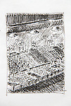 Seattle, Pike Place Market, Joel Rogers, Journal Art 2002, pen and ink,