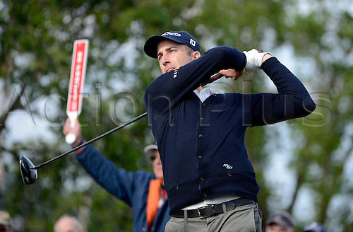 02.03.2013 Florida, USA. Geoff Ogilvy tees off during the third round of the Honda Classic at the PGA National Resort & Spa in Palm Beach Gardens, FL.