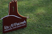 Ras Al Khaimah Challenge Tour tee marker during round 2, Ras Al Khaimah Challenge Tour Grand Final played at Al Hamra Golf Club, Ras Al Khaimah, UAE. 01/11/2018<br /> Picture: Golffile | Phil Inglis<br /> <br /> All photo usage must carry mandatory copyright credit (&copy; Golffile | Phil Inglis)