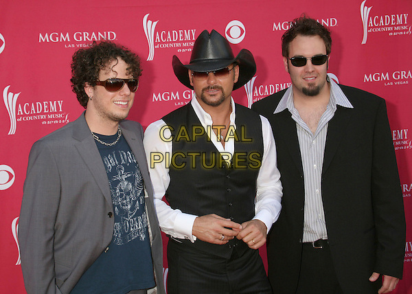 HALFWAY & HAZZARD & TIM McGRAW .42nd Annual Academy Of Country Music Awards held at the MGM Grand Garden Arena, Las Vegas, Nevada, USA..May 15th, 2007.half length sunglasses shades waistcoat suit jacket grey gray hat stetson.CAP/ADM/BP.©Byron Purvis/AdMedia/Capital Pictures