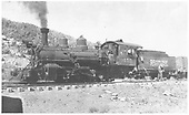 Fireman's-side view of RGS K-27 #455 with old cab.<br /> RGS  Dallas Divide, CO  6/17/1942