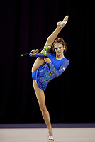 September 22, 2003; Budapest, Hungary; KATERINA PISETSKY of Israel trains with clubs at 2003 World Championships.