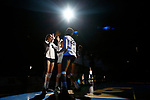 KANSAS CITY, KS - DECEMBER 14: Simone Lee #22 of Penn State University is introduced prior to the Division I Women's Volleyball Semifinals held at Sprint Center on December 14, 2017 in Kansas City, Missouri. (Photo by Tim Nwachukwu/NCAA Photos via Getty Images)