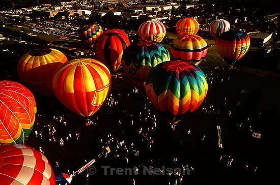 Freedom Festival balloon festival from above.  &amp;#xA;<br />