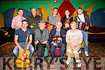 Some of the  musician at the Patrick O'Keeffe Annual Concert in the River Island Hotel Castleisland on Sunday were Front l-r  Michael O'Connor, Nicki McAuliffe, Donal O'Connor and Ann McAuliffe, Back l-r Colm Guilfoyle, Tim Dennehy, Paudie O'Connor, Aoife Ni Chaoimh and Bryan O'Leary