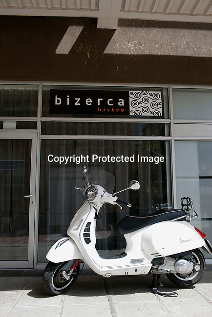 CAPE TOWN, SOUTH AFRICA - MARCH 22: Outside bizerca bistro on March 22, 2012 in Cape Town, South Africa (Photo by Per-Anders Pettersson For Le Monde)