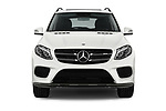 Car photography straight front view of a 2018 Mercedes Benz GLE AMG-43 5 Door SUV Front View