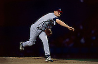 Kerry Wood of the Chicago Cubs participates in a Major League Baseball game at Dodger Stadium during the 1998 season in Los Angeles, California. (Larry Goren/Four Seam Images)