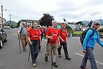 7-7-2017; Walkers stride through the village of Sneem in County Kerry on day 1 of the Kerry Way Walk in aid of Breakthrough Cancer Research on Friday evening. The three dayt charity walk continues in Derrynane on Saturday and South Kerry on Sunday.<br /> Photo Don MacMonagle<br /> <br /> Repro free photo breakthrough cancer research <br /> <br /> <br /> <br /> pictured in the village of Sneem in County Kerry on day 1 of the Kerry Way Walk in aid of Breakthrough Cancer Research on Friday evening. The three dayt charity walk continues in Derrynane on Saturday and South Kerry on Sunday.<br /> Photo Don MacMonagle<br /> <br /> Repro free photo breakthrough cancer research