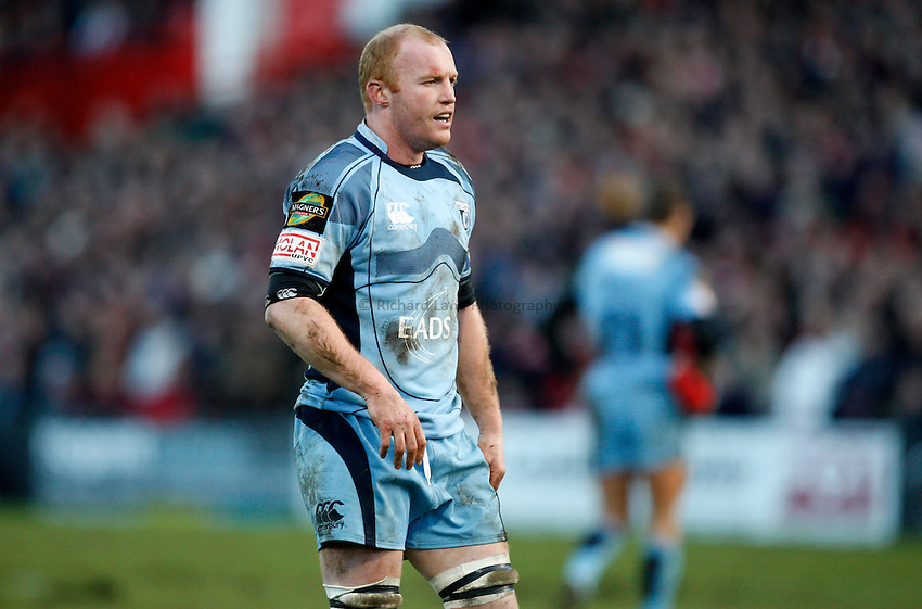 Photo: Richard Lane/Richard Lane Photography. Gloucester Rugby v Cardiff Blues. Heineken Cup. 18/01/2009. Cardiff's Martyn Williams.