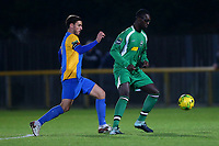 Jorge Dtassi-Sambu of Haringey and James Ishmail of Romford during Romford vs Haringey Borough, Bostik League Division 1 North Football at Ship Lane on 8th November 2017