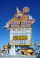 Las Vegas: Circus Circus Hotel Casino sign. Photo '79.