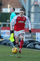 Ashley Hunter of Fleetwood Town during the Sky Bet League 1 match between Fleetwood Town and MK Dons at Highbury Stadium, Fleetwood, England on 24 February 2018. Photo by David Horn / PRiME Media Images