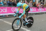Daniil Fominykh (KAZ) in action during the Men Elite Individual Time Trial of the UCI World Championships 2019 running 54km from Northallerton to Harrogate, England. 25th September 2019.<br /> Picture: Seamus Yore | Cyclefile<br /> <br /> All photos usage must carry mandatory copyright credit (© Cyclefile | Seamus Yore)