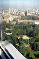 milano, veduta dalla torre branca al parco sempione --- milan, view from the branca tower at the sempione park