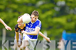 Paul Kennelly Shannon Rangers in action against Ronan Shanahan Austin Stacks in the First Round of the Kerry Senior Football Championship at O'Rahilly Park Ballylongford on Sunday.