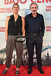 "Imanol Arias and Irene Meritxell , during Premiere Cold Pursuit ""Venganza Bajo Cero"" at Capitol Cinema on July 15, 2019 in Madrid, Spain.<br />  (ALTERPHOTOS/Yurena Paniagua)"