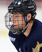 Zach Davies (Quinnipiac - 3) - The Harvard University Crimson and Quinnipiac University Bobcats played to a 2-2 tie on Saturday, November 5, 2011, at Bright Hockey Center in Cambridge, Massachusetts.