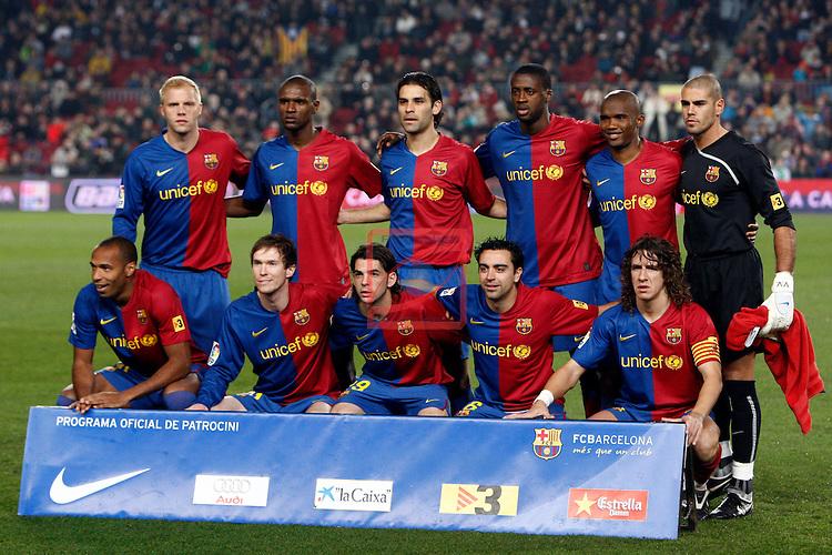 League BBVA 2008/2009 - Game: 17.<br /> FC Barcelona vs RCD Mallorca: 3-1.