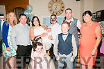 Baby Kayden Fitzpatrick with his parents Robert & Linda Fitzpatrick, Kilmorna who was christened in Corpus Christie Church , Knockanure  by Fr. Sheehy on Saturday last and afterwards at Brosnan's Bar Listowel. Back : Patrice Dannagher, Robert & Linda Fitzpatrick with Kayden, Pat Fitzpatrick, Michael Greaney & Helen Greaney. Front ; Ella Greaney & Naidine & Darragh Fitzpatrick.