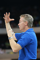 Words of advice from Joe Prunty Great Britain Head Coach during the EuroBasket 2015 2nd Qualifying Round Great Britain v Bosnia & Herzegovina (Euro Basket 2nd Qualifying Round) at Copper Box Arena in London. - 13/08/2014