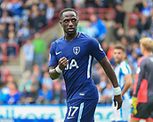 30th September 2017, The John Smiths Stadium, Huddersfield, England; EPL Premier League football, Huddersfield Town versus Tottenham Hotspur; Moussa Sissoko of Tottenham Hotspur FC celebrates his goal in the 90+1 minute