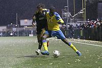 Joel Nouble of Hariney during Haringey Borough vs AFC Wimbledon, Emirates FA Cup Football at Coles Park Stadium on 9th November 2018