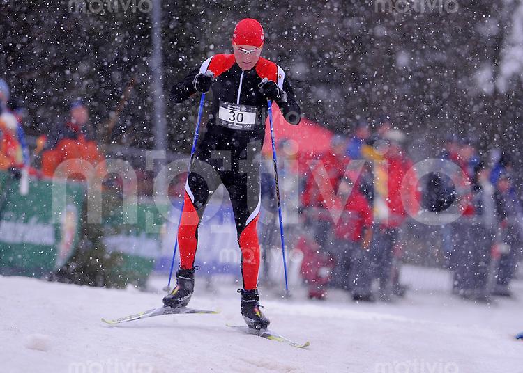 COOLMAN  Deutsche Meisterschaft  im Wintertriathlon 2009  17.01.2009 Langlauf Sieger Rene Hoerdemann (KSV Baunatal)